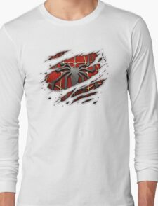 Spiderman Chest Ripped Long Sleeve T-Shirt