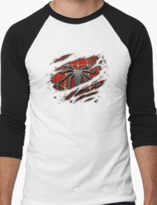 Spiderman Chest Ripped Men's Baseball ¾ T-Shirt