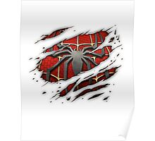 Spiderman Chest Ripped Poster