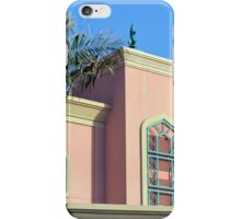 Pink building with Arabic arch window decorations. iPhone Case/Skin