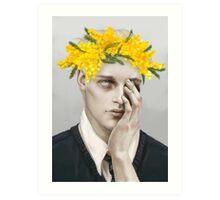 Flower crown Noah Art Print