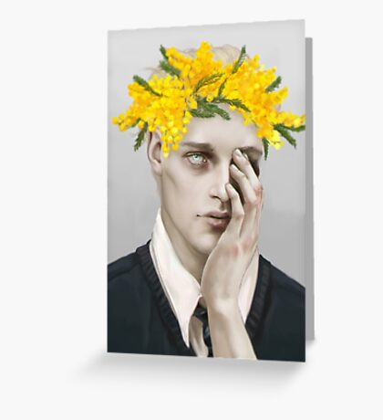 Flower crown Noah Greeting Card
