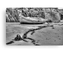 Boat in black and white Canvas Print