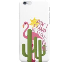 Don't stand to close to me iPhone Case/Skin