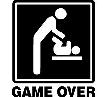 GAME OVER DAD Photographic Print