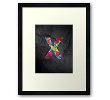Fun Letter - X Framed Print