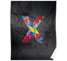 Fun Letter - X Poster
