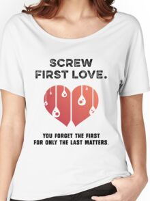First Love [BLACK] Women's Relaxed Fit T-Shirt