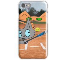 Cats Play Playing Softball! iPhone Case/Skin