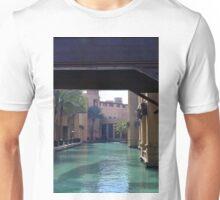 Arabic buildings seen under a bridge. Unisex T-Shirt