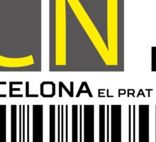 Destination Barcelona Airport Sticker
