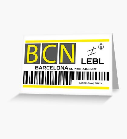 Destination Barcelona Airport Greeting Card