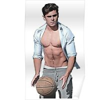 zac efron basketball Poster