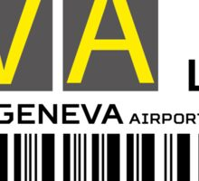 Destination Geneva Airport Sticker
