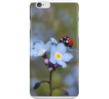 Forget-me-not Ladybird iPhone Case/Skin