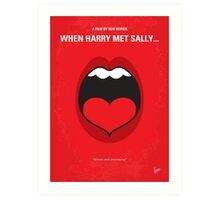 No405 My When Harry Met Sally minimal movie poster Art Print