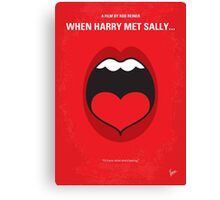 No405 My When Harry Met Sally minimal movie poster Canvas Print