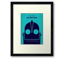 No406 My The Iron Giant minimal movie poster Framed Print