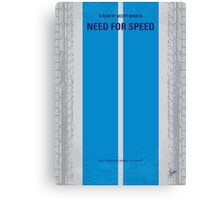 No407 My NEED FOR SPEED minimal movie poster Canvas Print