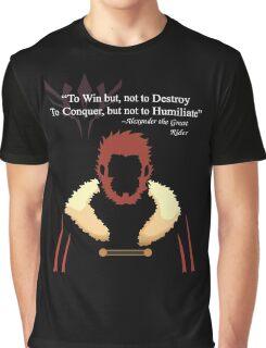 Iskandar Quotes White Print Graphic T-Shirt