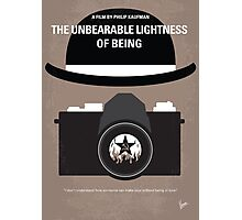 No408 My The Unbearable Lightness of Being minimal movie poster Photographic Print