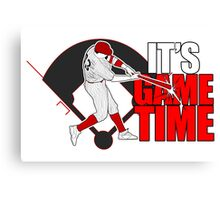 It's Game Time - Baseball (Red) Canvas Print