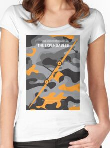 No413 My The expendables minimal movie poster Women's Fitted Scoop T-Shirt