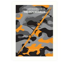 No413 My The expendables minimal movie poster Art Print