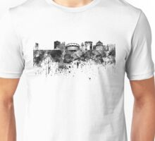 Bucharest skyline in black watercolor Unisex T-Shirt