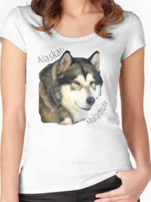 Products with breeds of dogs, Alaskan Malamute Women's Fitted Scoop T-Shirt