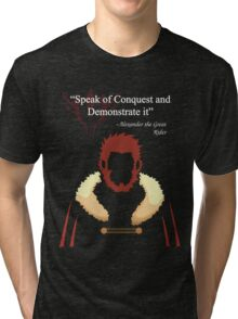 Iskandar Quotes Speak of Conquest and Demonstrate it Tri-blend T-Shirt