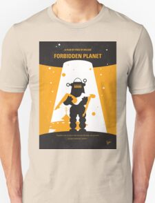 No415 My Forbidden Planet minimal movie poster T-Shirt