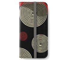 Red Black Retro Pattern  iPhone Wallet/Case/Skin