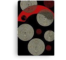 Red Black Retro Pattern  Canvas Print