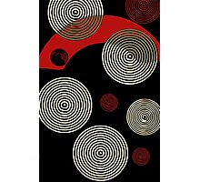 Red Black Retro Pattern  Photographic Print