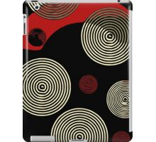 Red Black Retro Pattern  iPad Case/Skin