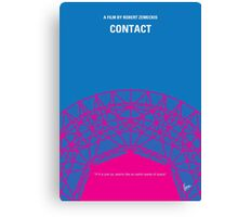 No416 My Contact minimal movie poster Canvas Print