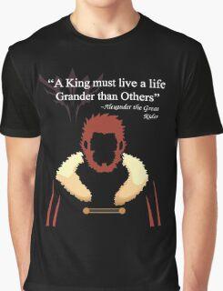 Iskandar Quotes Black Print Graphic T-Shirt