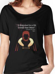 Iskandar Quotes Black Print Women's Relaxed Fit T-Shirt