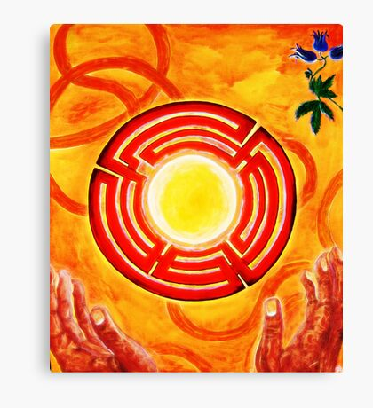 Magic Hands, Spirituality, orange, earth, flower Canvas Print