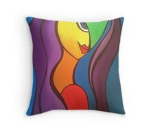 Purple lady! Throw Pillow