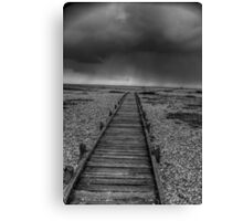 Decking path at Dungeness Canvas Print