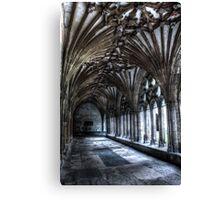 Stone corridor Canvas Print