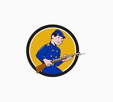 Union Army Soldier Bayonet Rifle Circle Cartoon Unisex T-Shirt