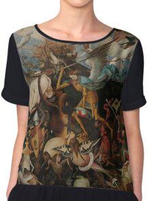Pieter Bruegel the Elder - The Fall of the Rebel Angels Chiffon Top