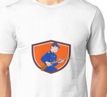 Union Army Soldier Bayonet Rifle Crest Cartoon Unisex T-Shirt