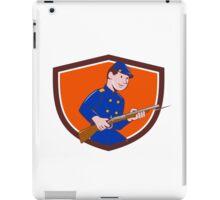 Union Army Soldier Bayonet Rifle Crest Cartoon iPad Case/Skin