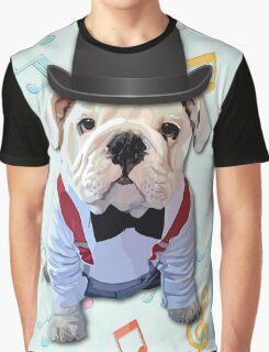 Bulldog Hat Graphic T-Shirt