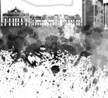 Buenos Aires skyline in black watercolor Sticker