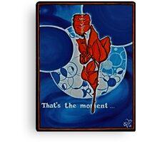 Rose, blue, Universe, Spirituality, blue star shaker Canvas Print